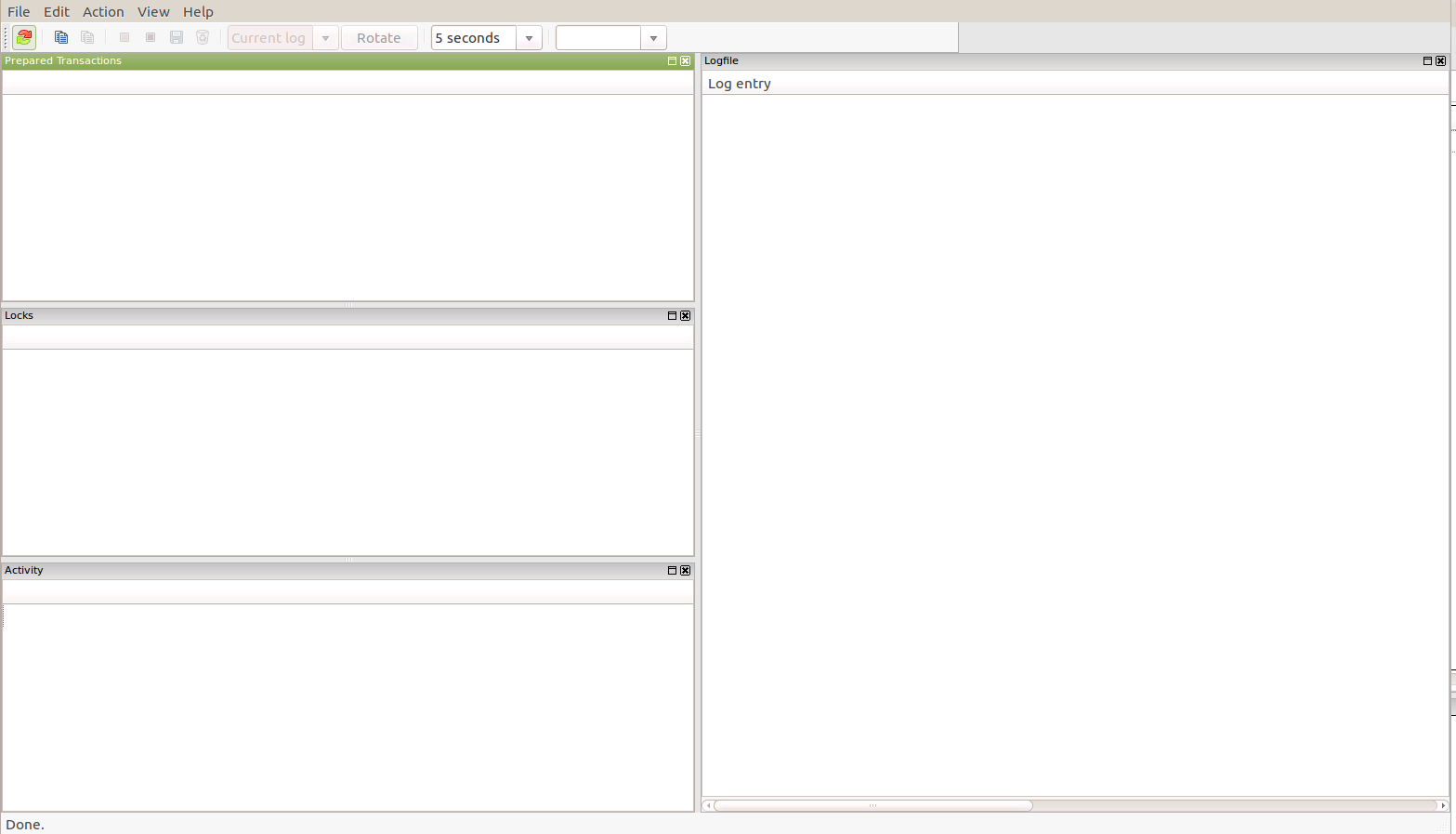 PostgreSQL: bug report: pgadmin3 server status dialog malfunction
